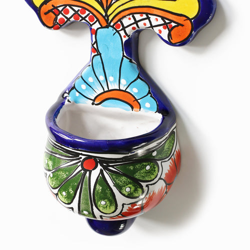 Talavera Cross Wall Planter