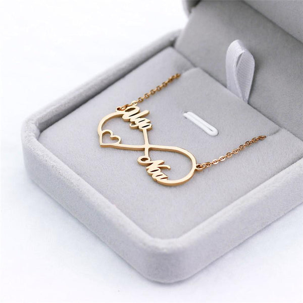 stylish Simple Infinity Name Necklace for women in gold rose gold and silver color (Free shipping) | Simply Bo