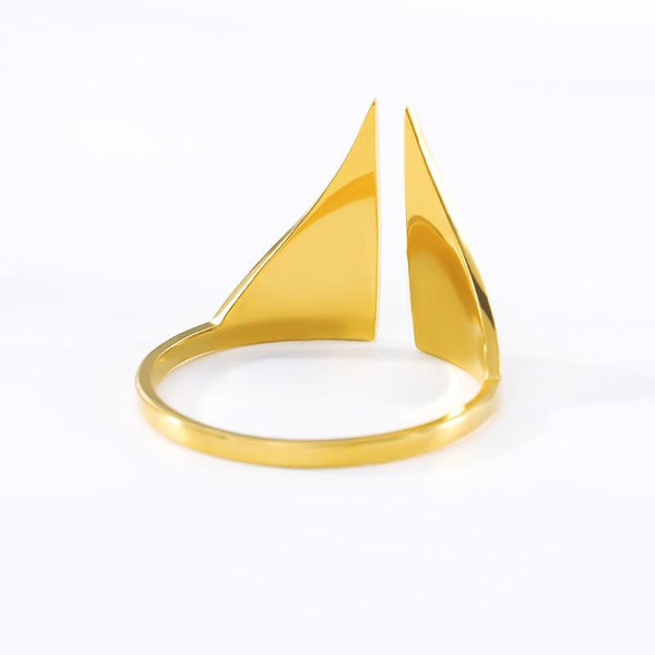 Open Triangle Ring jewelry for women in gold rose gold and silver with Free shipping - Simply Bo