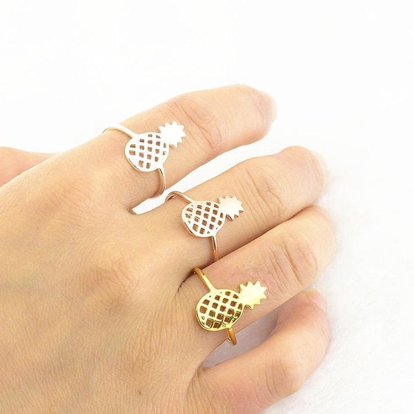 stylish Pineapple Ring for women in gold rose gold and silver color (Free shipping) | Simply Bo