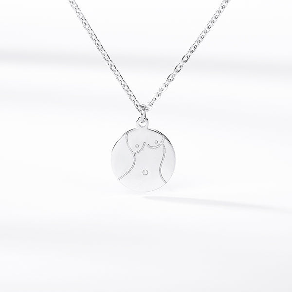 Women's Bold Sexy Breast Body Coin Necklace jewelry for women in silver with Free shipping - Simply Bo