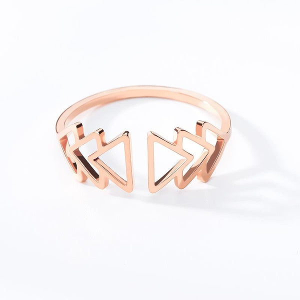 Adjustable Band Ring for women in rose gold color (Free shipping)  Simply Bo