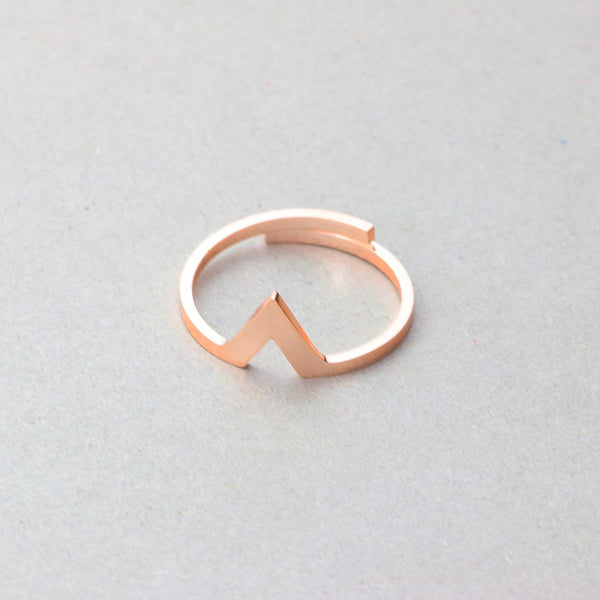Stacking Thin Triangle Ring for women in rose gold (Free shipping) | Simply Bo