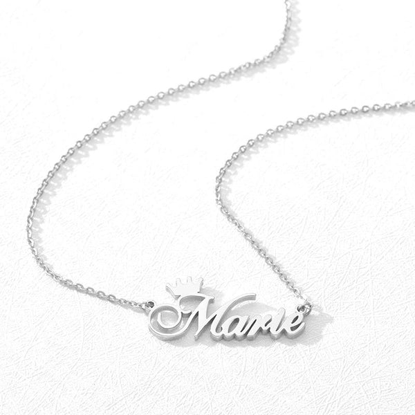 stylish Crown Name Necklace for women in gold rose gold and silver color (Free shipping) | Simply Bo