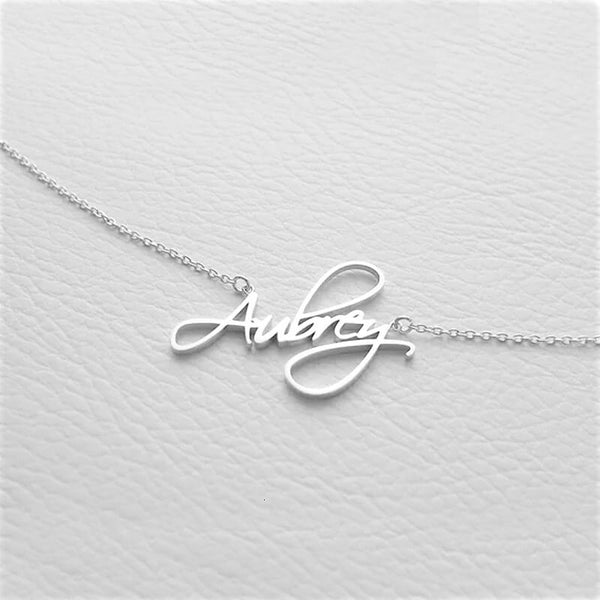 stylish personalized Script Nameplate Necklace for women in silver color (Free shipping) | Simply Bo