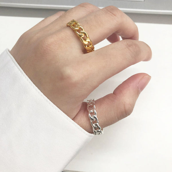 Stacking Chain Band Ring for women in gold  color (Free shipping) | Simply Bo