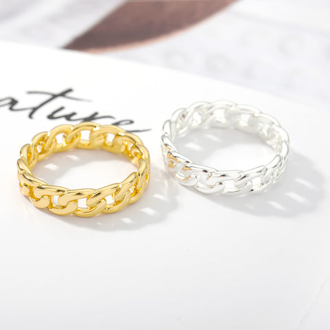 Stackable Chain Band Ring for women in gold rose gold and silver color (Free shipping) | Simply Bo