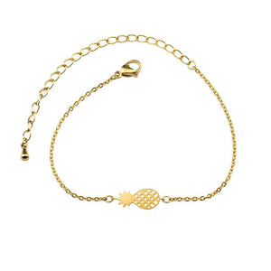 stylish Pineapple Bracelet for women in gold rose gold and silver color (Free shipping) | Simply Bo