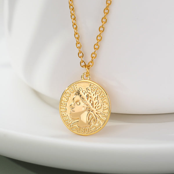 Gold tone layered vintage petite coin Pendant Necklace Boho Jewellery for women Free shipping - Simply Bo