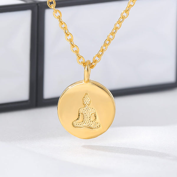 Inspired  Gold Gypsy lotus flower buddha Pendant Necklace for women and men  (Free shipping) | Simply Bo