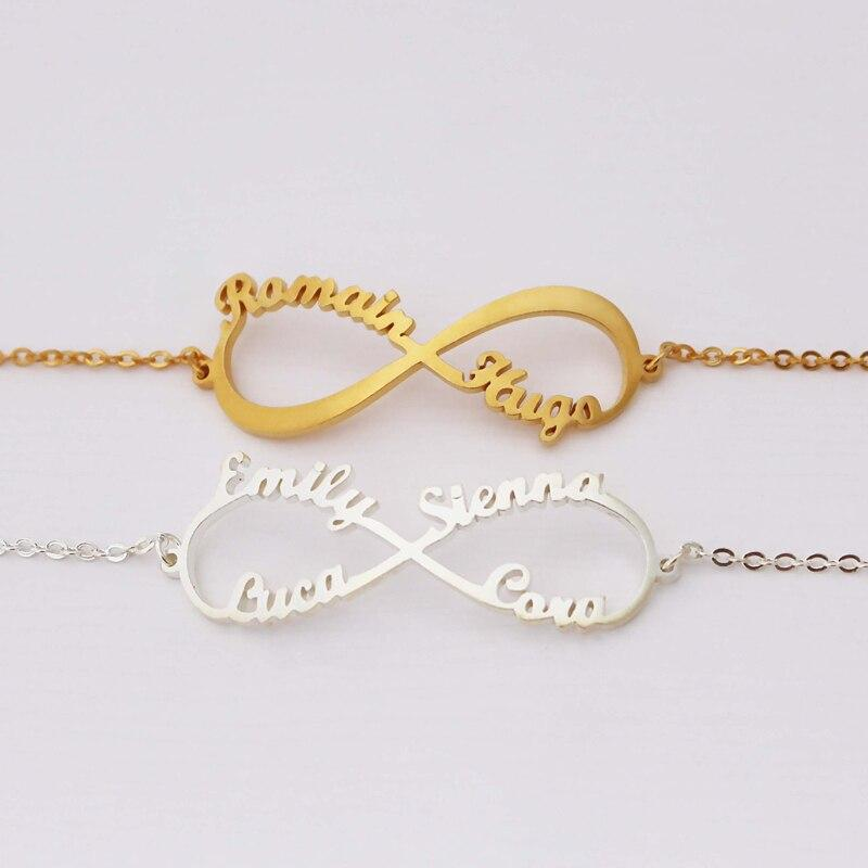 stylish Infinity Name Bracelet for women in gold rose gold and silver color (Free shipping) | Simply Bo