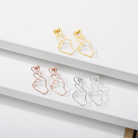 Love Earrings jewelry for women in gold rose gold and silver with Free shipping - Simply Bo