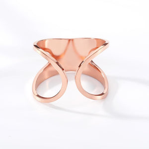 stylish Wide Cuff Ring for women in gold rose gold and silver color (Free shipping) | Simply Bo