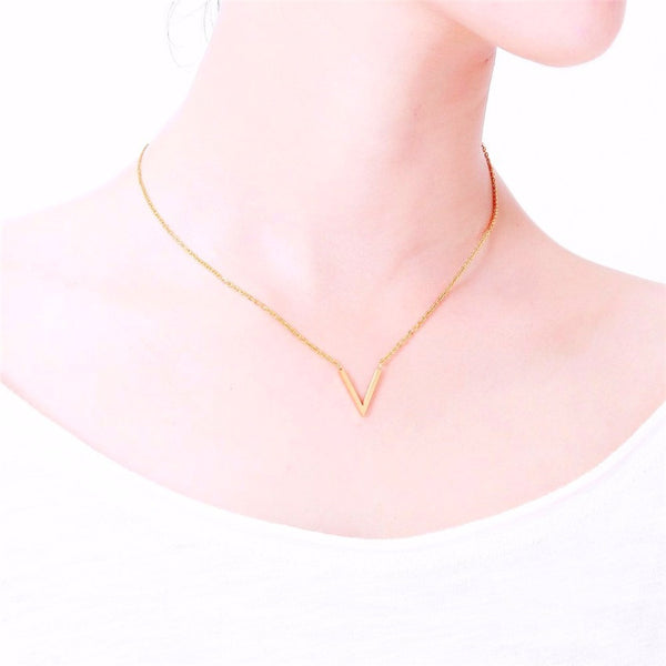 stylish V Necklace for women in gold rose gold and silver color (Free shipping) | Simply Bo