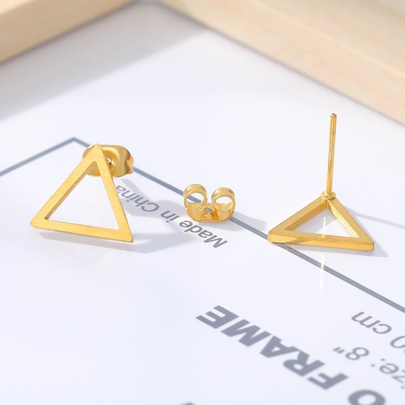 stylish Triangle Earrings for women in gold rose gold and silver color (Free shipping) | Simply Bo