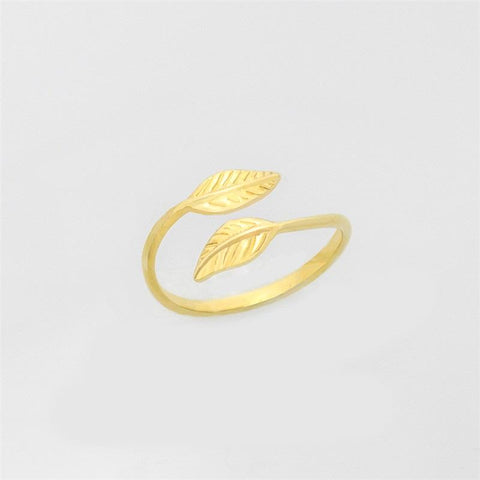 Leafs Ring jewelry for women in gold rose gold and silver with Free shipping - Simply Bo