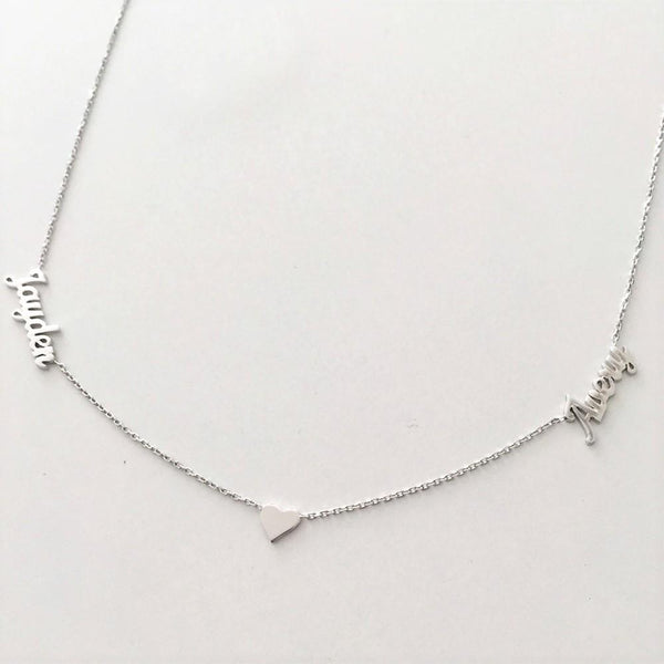 Double Names Heart Necklace