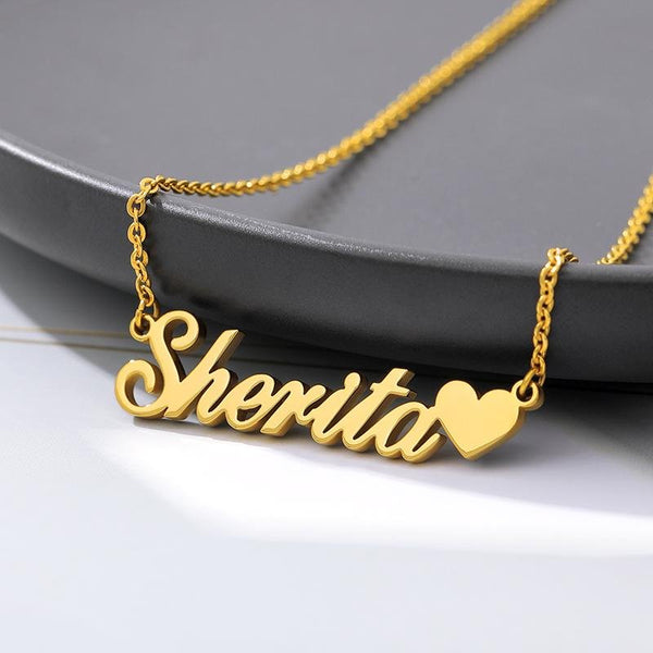 stylish Tiny Heart Name Necklace for women in gold rose gold and silver color (Free shipping) | Simply Bo