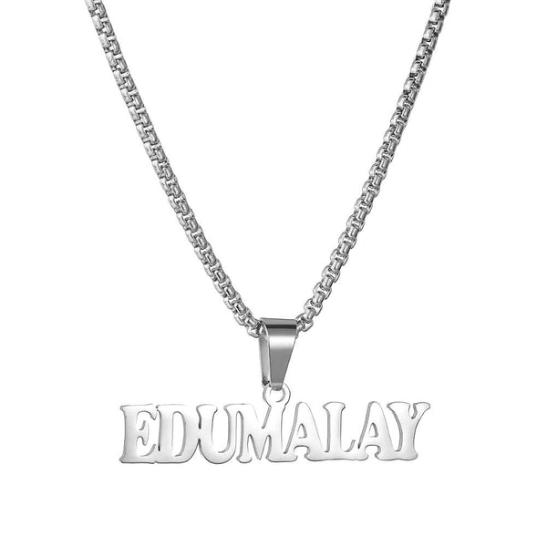 Street STyle Bold Personalized Nameplate Necklace jewelry for women in silver with Free shipping - Simply Bo