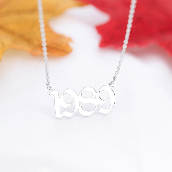 stylish Year Necklace (1998 to 2010) for women in gold rose gold and silver color (Free shipping) | Simply Bo