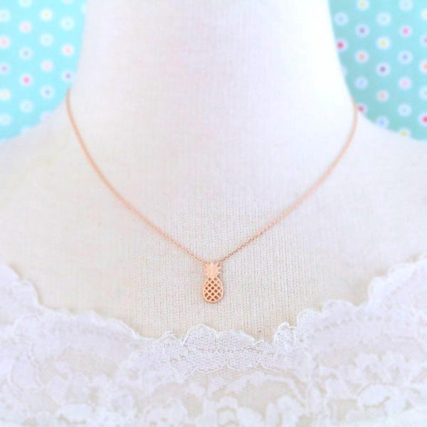 Pineapple Necklace jewelry for women in gold rose gold and silver with Free shipping - Simply Bo