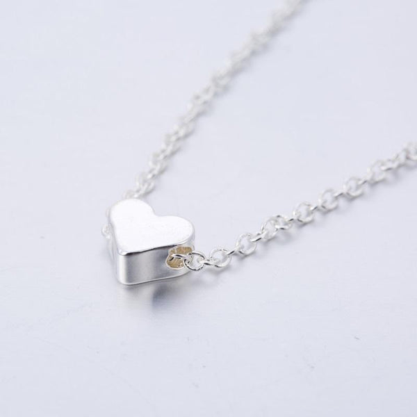 Heart Necklace jewelry for women in gold rose gold and silver with Free shipping - Simply Bo