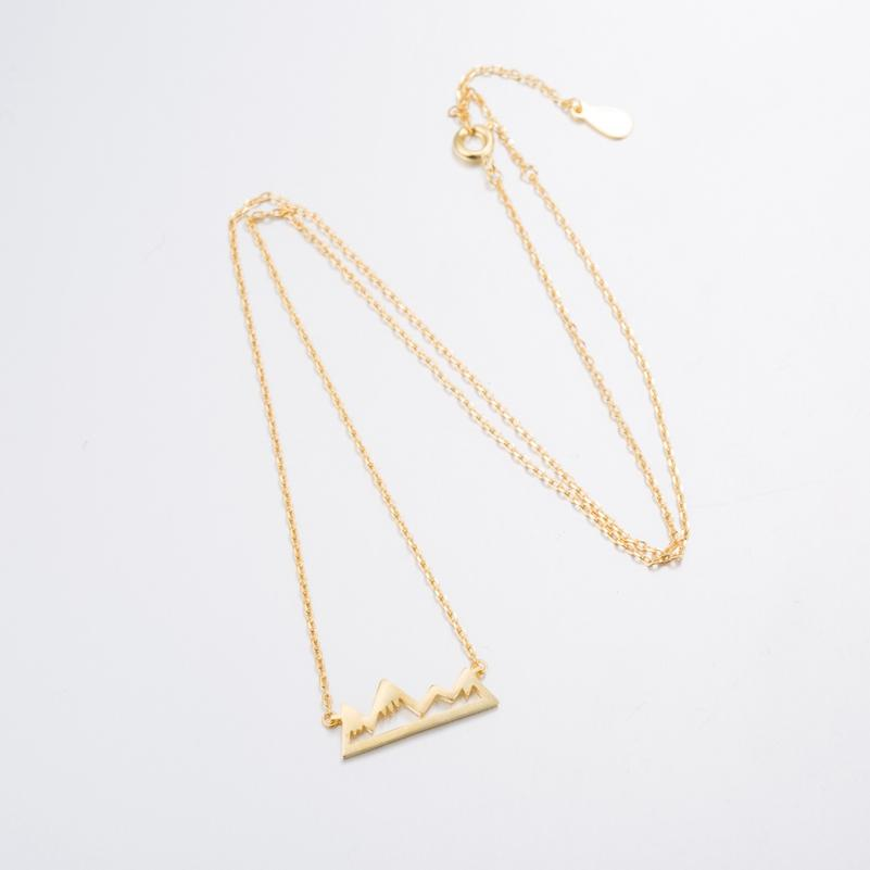 stylish Mountain Necklace for women in gold rose gold and silver color (Free shipping) | Simply Bo