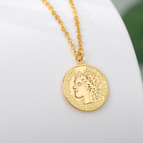 Gold tone layering coin Pendant Necklace Boho Jewellery for women Free shipping - Simply Bo