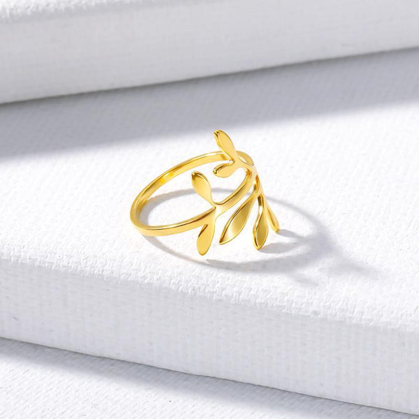 stylish Laurel Flower Ring for women in gold rose gold and silver color (Free shipping) | Simply Bo