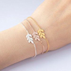 stylish Leaf Bracelet for women in gold rose gold and silver color (Free shipping) | Simply Bo