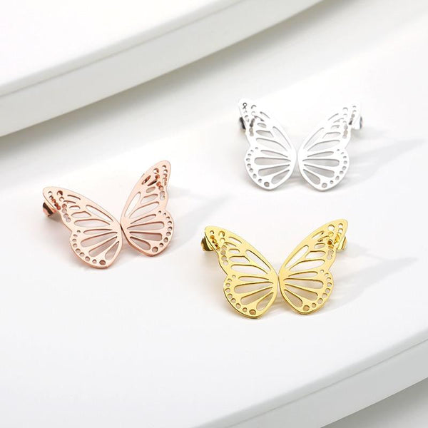 Butterfly Earrings jewelry for women in gold rose gold and silver with Free shipping - Simply Bo