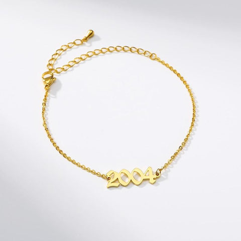 Year Bracelet (2003 to 2012) jewelry for women in gold rose gold and silver with Free shipping - Simply Bo