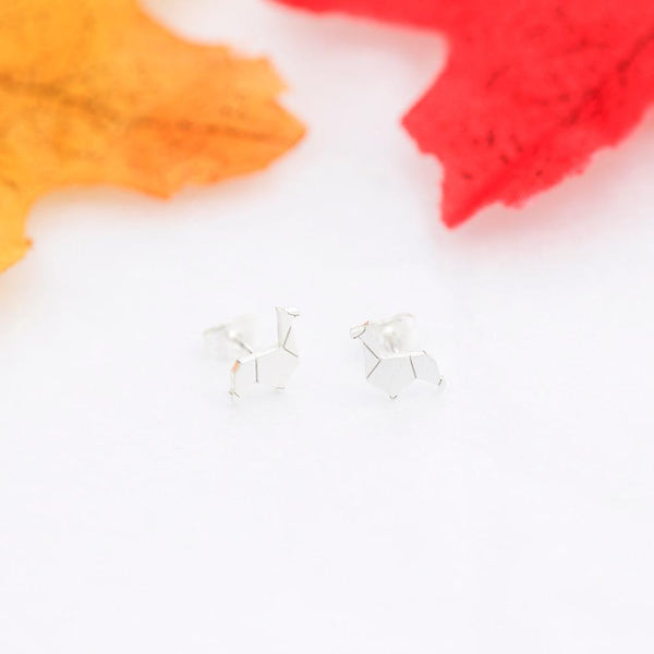 stylish Origami Alpaca Earrings for women in gold rose gold and silver color (Free shipping) | Simply Bo