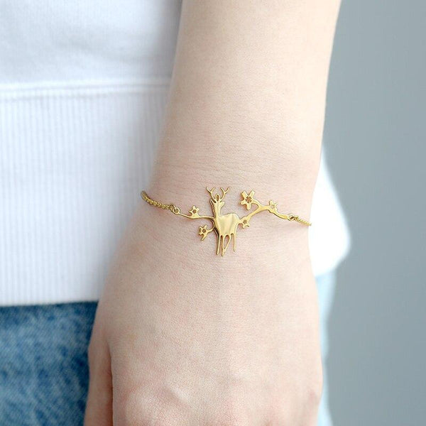 stylish Deer Stars Bracelet for women in gold rose gold and silver color (Free shipping) | Simply Bo