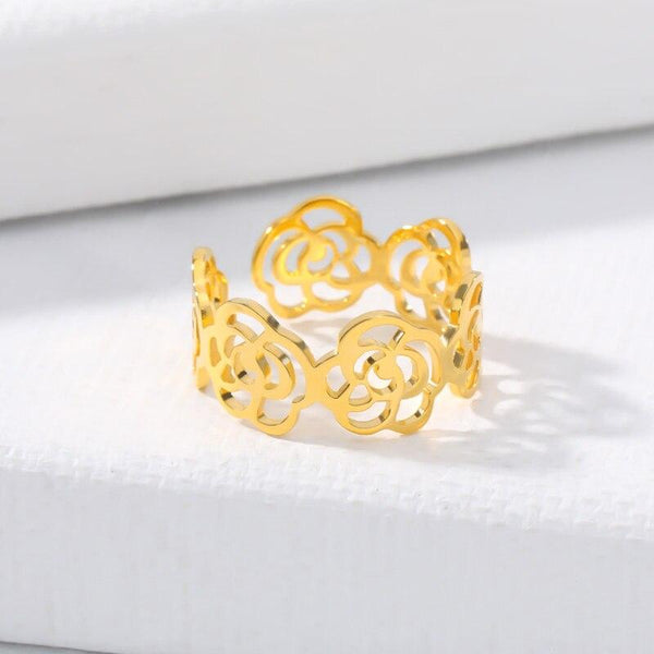 stylish Flowers Ring for women in gold rose gold and silver color (Free shipping) | Simply Bo