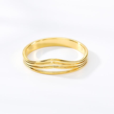 stylish Striped Ring for women in gold rose gold and silver color (Free shipping) | Simply Bo
