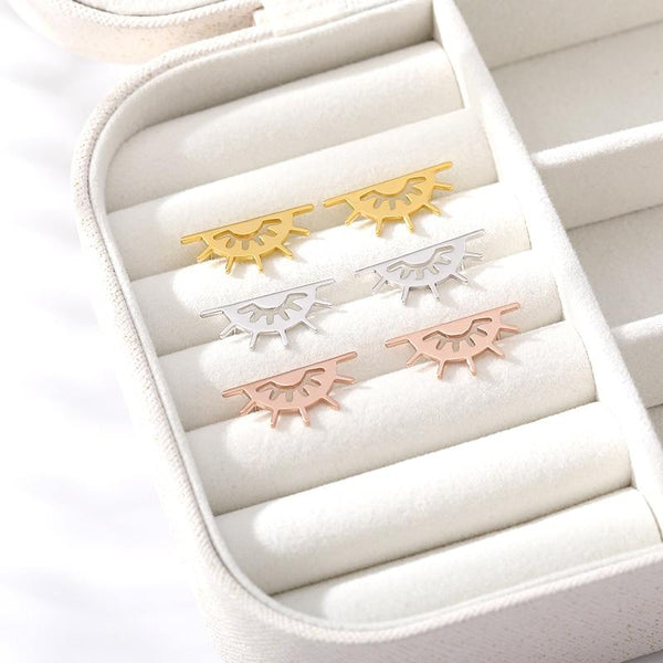 stylish Hollow Sun Earrings for women in gold rose gold and silver color (Free shipping) | Simply Bo