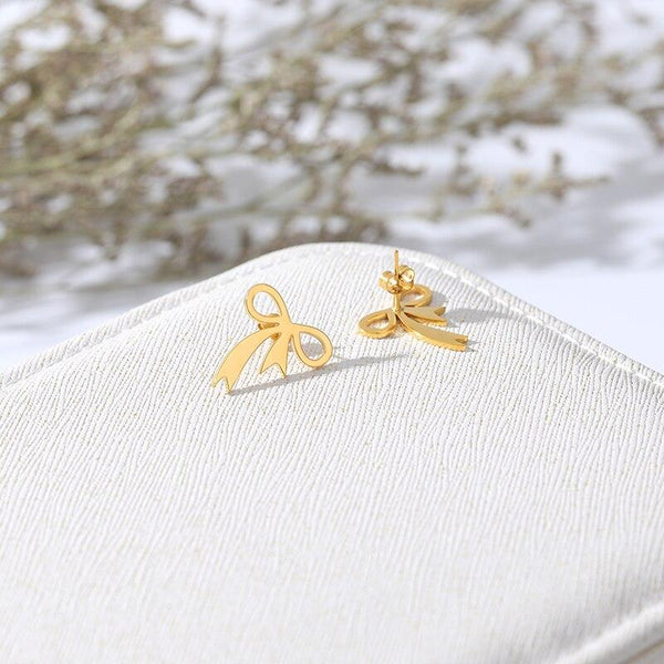Bowknot Earrings jewelry for women in gold rose gold and silver with Free shipping - Simply Bo