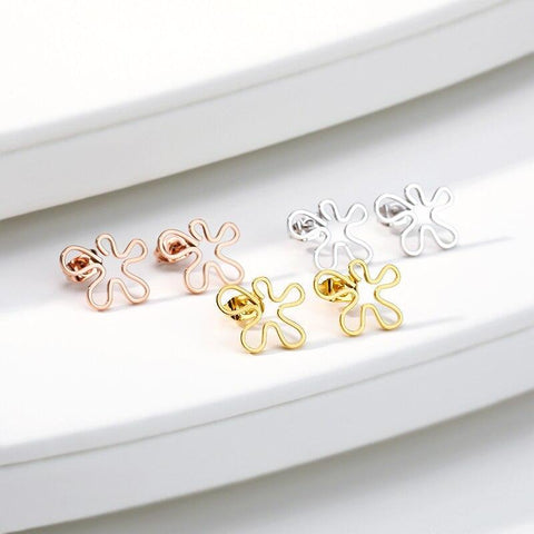 Tiny Flower Earrings jewelry for women in gold rose gold and silver with Free shipping - Simply Bo