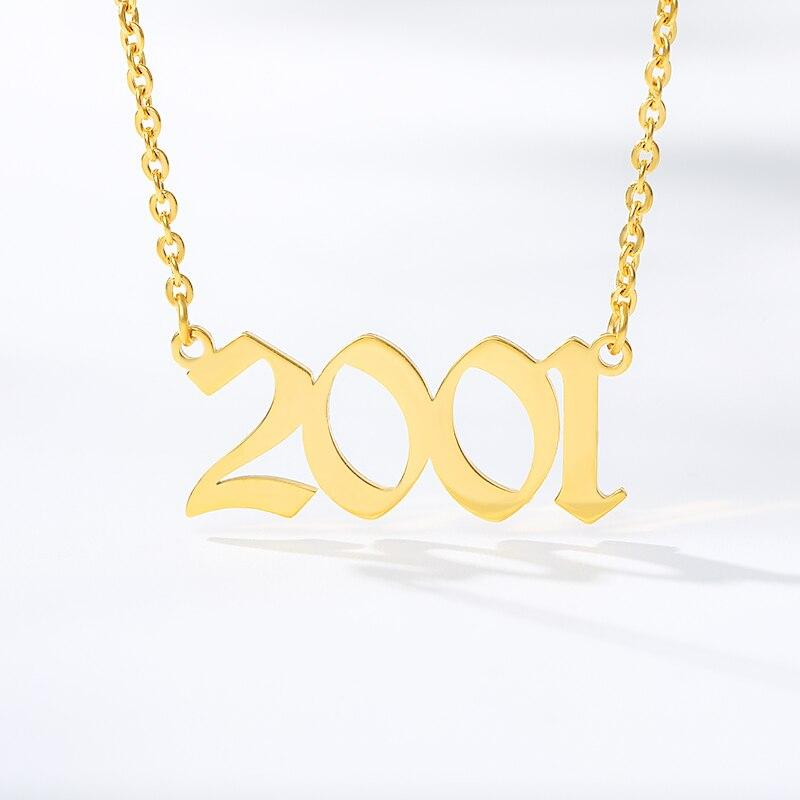 Year Necklace (1998 to 2010) jewelry for women in gold rose gold and silver with Free shipping - Simply Bo