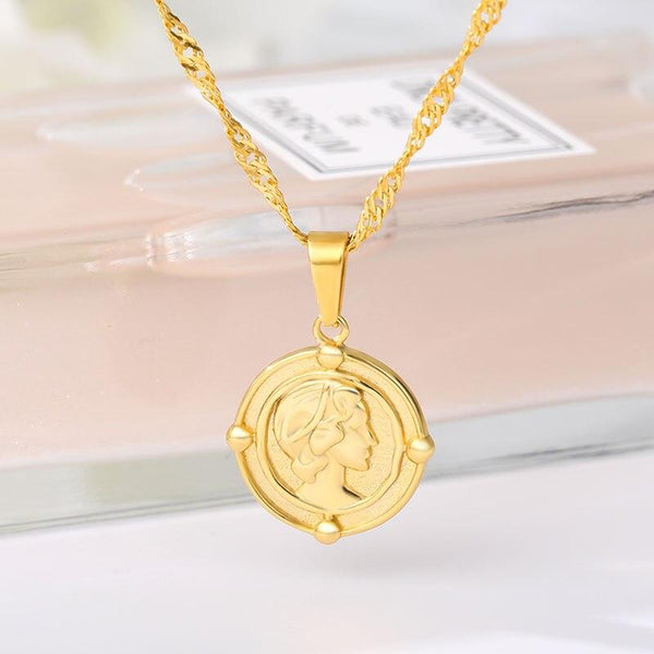 Coin Necklace jewelry for women in gold rose gold and silver with Free shipping - Simply Bo