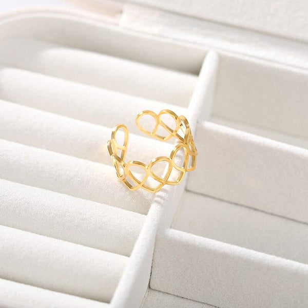 Infinity Heart Ring jewelry for women in gold rose gold and silver with Free shipping - Simply Bo