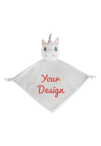 White Unicorn Cubbie Comforter Blankie - Personalised Items | Sherbet Kidswear & Gifts - Personalised Kids Toys and Children's Stuffed Animals