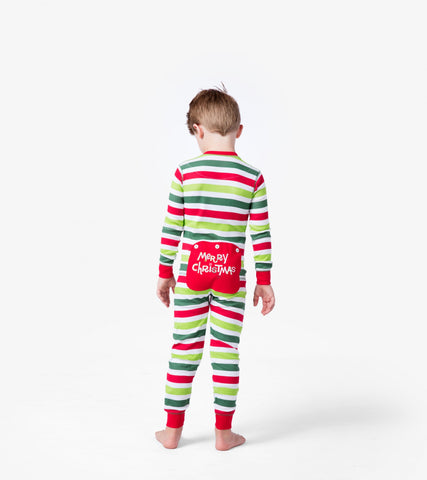 Hatley Christmas Stripe Union Suit Kids (1.5-2 yrs) (9-10 yrs)