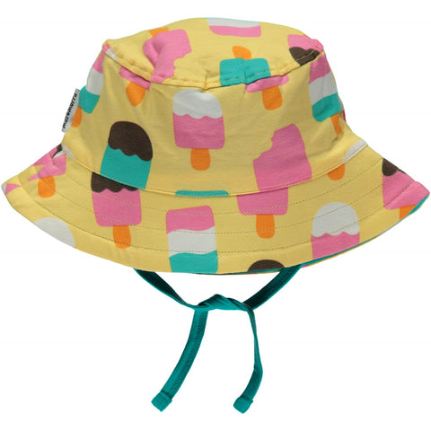 Maxomorra Sun Hat Ice Cream Yellow