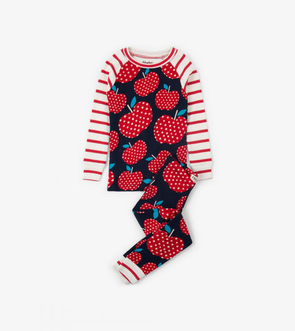 Hatley - Hatley Polka Dot Apples Organic Cotton pyjamas - Pyjamas | Sherbet Kidswear & Gifts - Ethical Children's Clothing and Eco-Friendly Kids Apparel