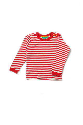Little Green Radicals - Little Green Radicals Red Stripe Long Sleeve Tee A18113 - Top | Sherbet Kidswear & Gifts - Children's Tops, Kids Polo Shirts, Longsleeve Shirts for Boys and Girls