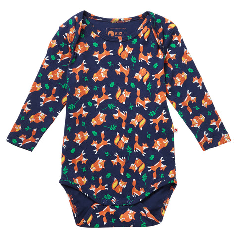 Piccalilly - piccalilly Fox print Baby Body - Body | Sherbet Kidswear & Gifts - Ethical Children's Clothing and Eco-Friendly Kids Apparel