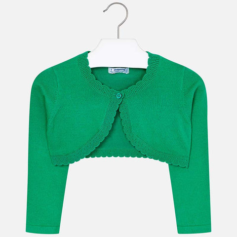 Mayoral Basic Knit Cardigan 320 Green (6-7 Years) (7-8 Years)