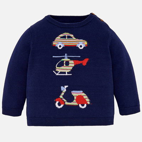 Mayoral Basic Embroidered Sweater 1310  (12-18 Months)